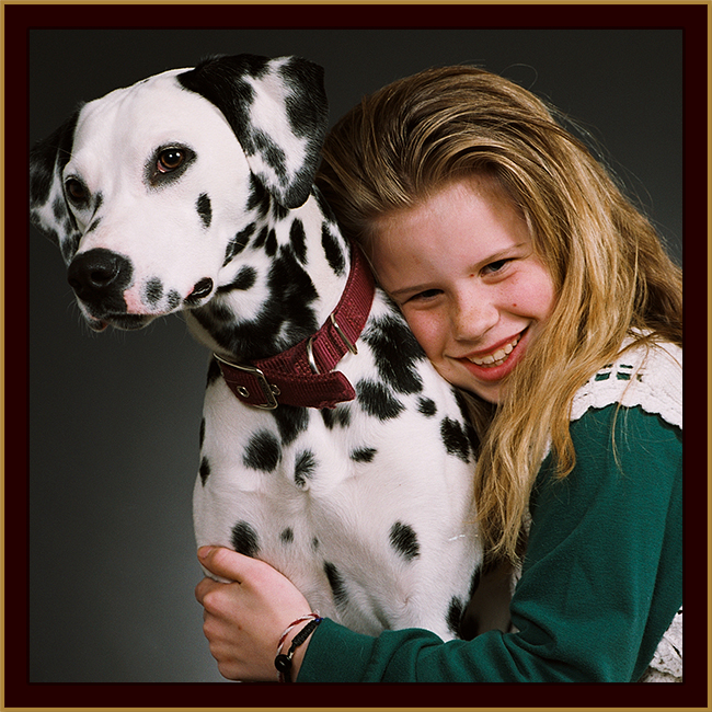 Girl with dalmation photo